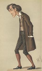 Henry Irving caricature in Vanity Fair as Mathias in The Bells