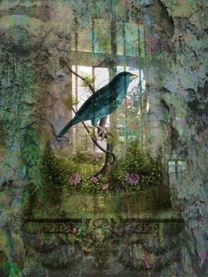 Indoor Garden with Bird