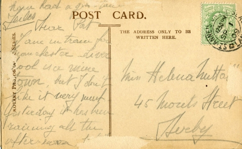 Vintage Postcard Back 2