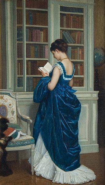 Dans la Bibliothèque by Auguste Toulmouche, 1872