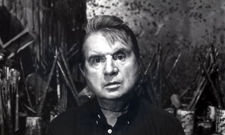 Francis Bacon in his studio. Photograph: Jane Bown