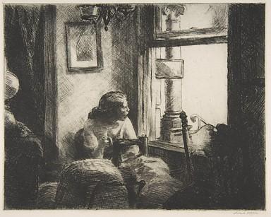 Night Shadows Edward Hopper (American, Nyack, New York 1882–1967 New York) Date: 1921 Medium: Etching