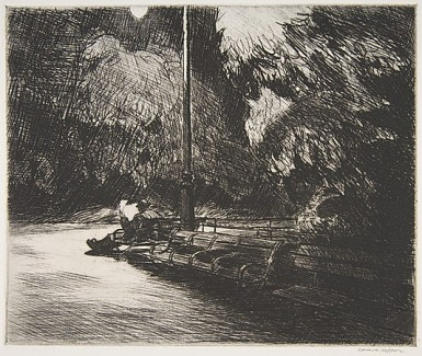 Night in the Park Edward Hopper 1921 The Metropolitan Museum of Art