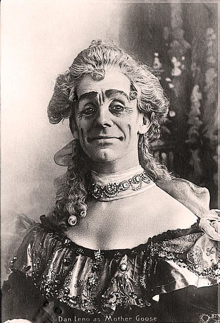 Dan Leno as Mother Goose in 1902 @ First Night Vintage