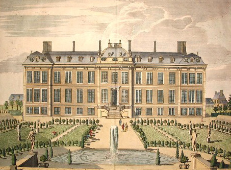 The North Prospect of Mountague House by James Simon c1715