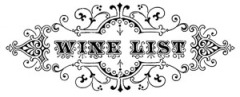 Typography Wine Menu - The Graphics Fairy