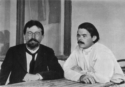 Anton Chekov with Gorky at Yalta 1900