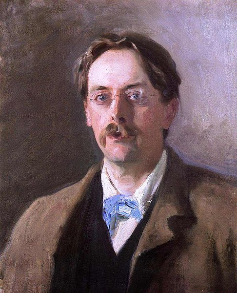 Portrait of Sir Edmund Gosse, 1886, by John Singer Sergent . Oil on canvas 54.6 x 44.5 cm (21 1/2 x 17 1/2 in.) National Portrait Gallery, London