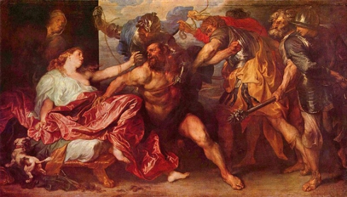Anthony Van Dyck - Samson and Delilah  c. 1618–20