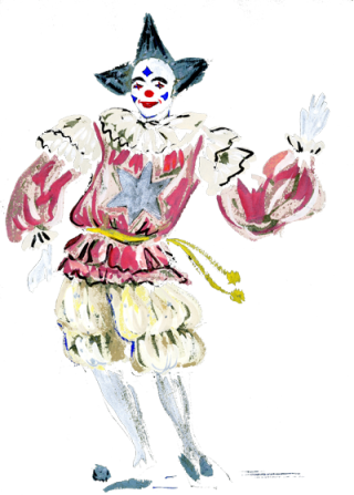 Untitled Clown by Benedicta Leigh