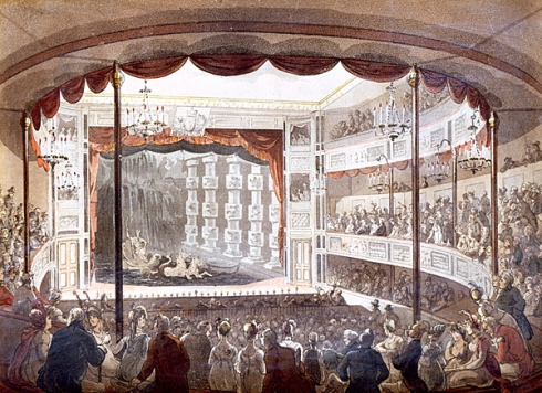 Sadler's Wells by Thomas Rowlandson & Augustus Charles Pugin