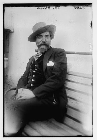 Augustus John on board ship [Wikimedia]