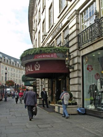 Cafe Royal in 2008 before its recent refurbishment [Wikimedia}