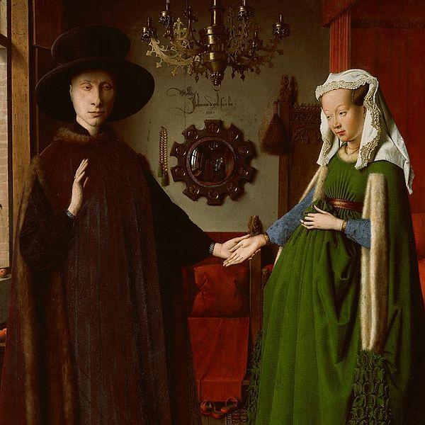 The Arnolfini Portrait by Jan van Eyck (1434)