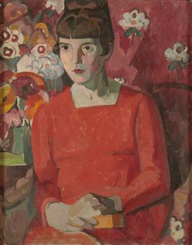 Portrait of Katherine Mansfield (1918) by