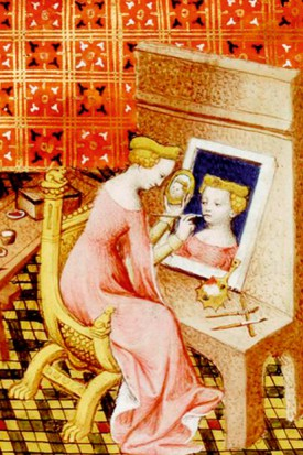 detail from Boccaccio's On Famous Women (1402)