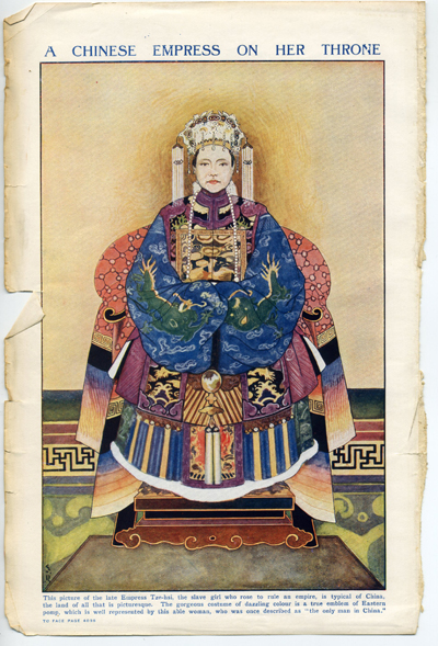 The original empress image from a 1920s edition of The Children's Encyclopaedia