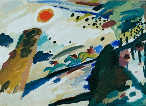 Romantic Landscape by Wassily Kandinsky © First Night Vintage