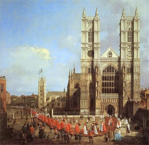 London: Westminster Abbey, with a Procession of Knights of the Bath, 1749