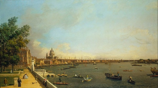 London: The Thames from Somerset House Terrace towards the City