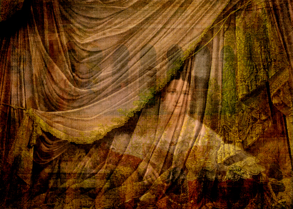 Woman Behind Curtain © First Night Design