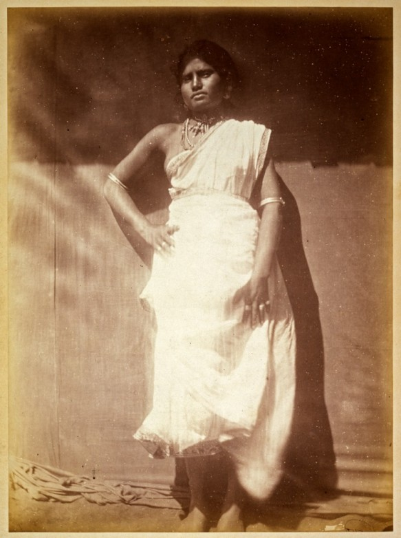 Photograph of a Sinhalese woman by Julia Margaret Cameron, 1875