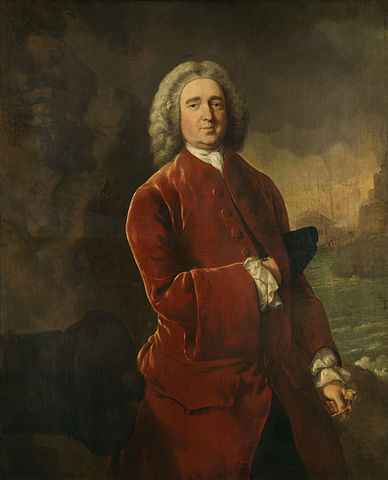 "Admiral Edward ""Old Grog"" Vernon. Portrait by Thomas Gainsborough [Wikipedia]"