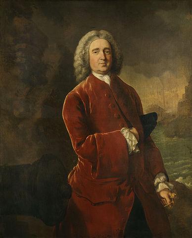 "Admiral Edward ""Old Grog"" Vernon. Portrait by Thomas Gainsborough [Wikipedia]"