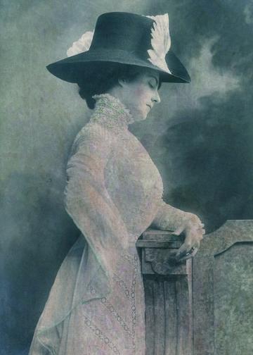 A Lady Ponders