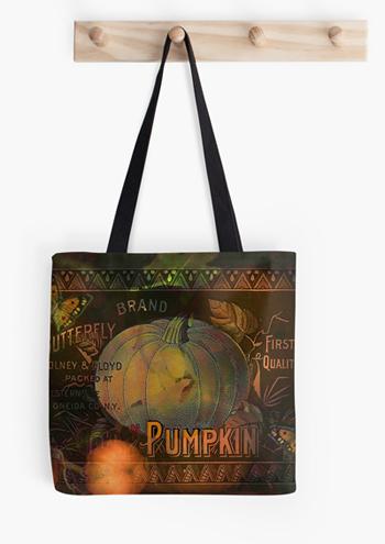 Artful Pumpkins Tote © Sarah Vernon [Redbubble]