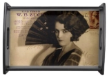Femme Fatale in Sepia Serving Trays © Sarah Vernon