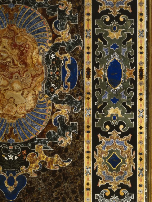 Section of the pietre dure table in the Library at Charlecote Park, purchased by George Lucy from dealer Thomas Emmerson in 1824. Inv. no. 532986. ©National Trust Images/Derrick E. Witty