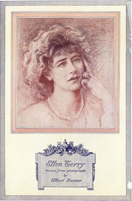 Ellen Terry drawn from photographs by Albert Sterner