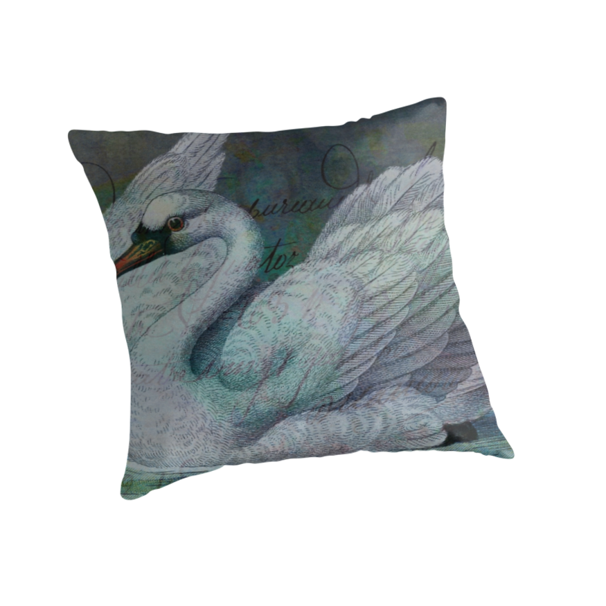 The Swan Also Rises Cushion Covers © Sarah Vernon