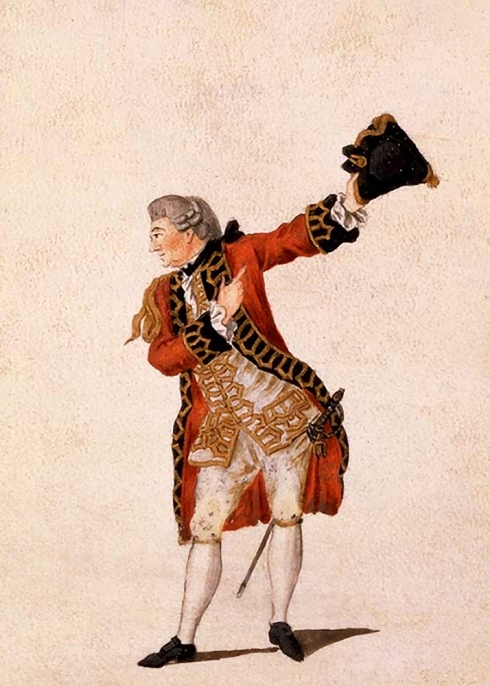 David Garrick as Benedict in Much Ado About Nothing 1770 © Sarah Vernon