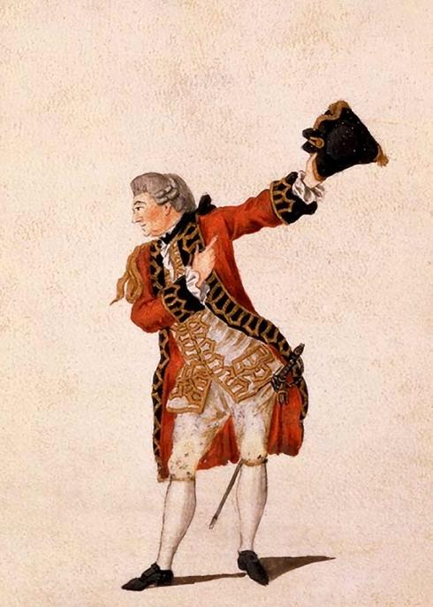 David Garrick as Benedict in Much Ado About Nothing 1770 © Sarah Vernon
