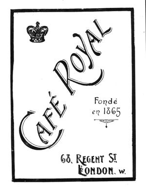 Café Royal, Regent Street