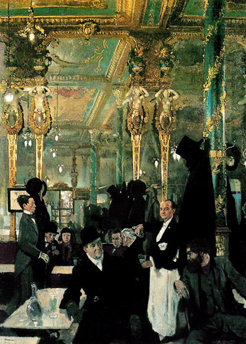 The CaféŽ Royal, London by William Orpen (1912) © First Night Vintage—Available as Posters, Cards, and Prints