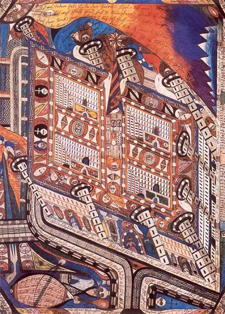 Irren-Anstalt Band-Hain by Adolf Wölfli (1910)