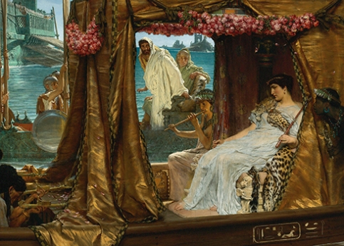 The Meeting of Antony and Cleopatra - Sir Lawrence Alma-Tadema (1885)