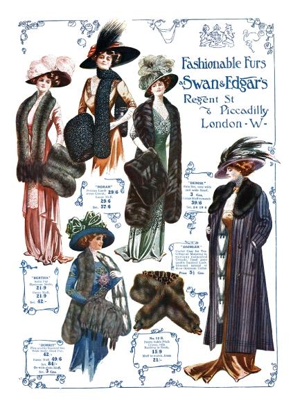 Swan & Edgar's Fashionable Furs © Sarah Vernon