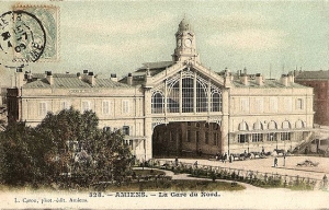 Gare du Nord (old postcard published by Caron No. 328, postmarked in 1909).
