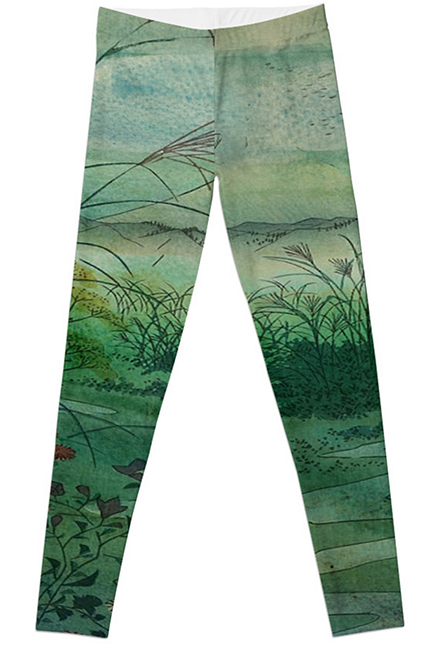 The Green, Green Grass of Home Leggings from Redbubble