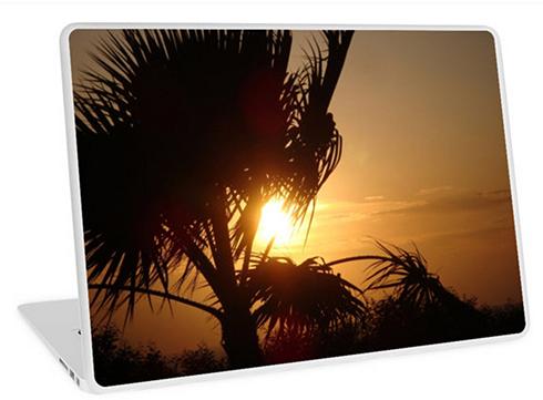 Silhouette Sunset Laptop Skin © Sarah Vernon
