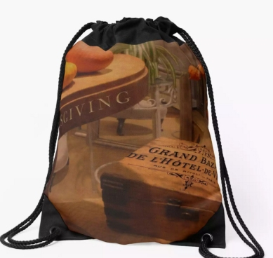 Thanksgiving Hideaway Drawstring Bag © Sarah Vernon from FAA