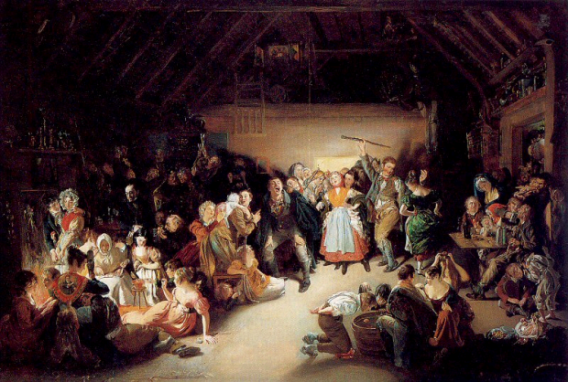 Snap-Apple Night by Daniel Maclise, 1833