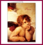 A Cherub, Detail of the Sistine Madonna - Raphael Greeting Card