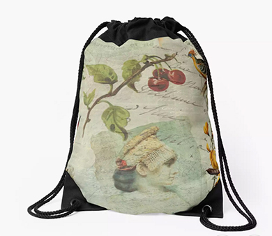Draw-string bags by Redbubble