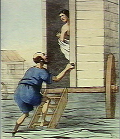 A man opening the door of a woman's bathing machine, the wom Credit: Wellcome Library, London. Wellcome Images images@wellcome.ac.uk http://wellcomeimages.org A man opening the door of a woman's bathing machine, the woman in side looks shocked and angry; the man claims he thought it was his machine. Coloured lithograph by Br. Published: - Copyrighted work available under Creative Commons Attribution only licence CC BY 4.0 http://creativecommons.org/licenses/by/4.0/