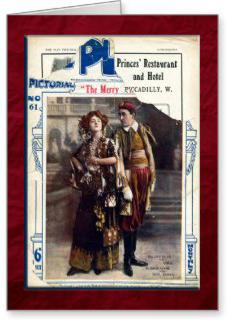 The Merry Widow Greeting Card by FirstNightDesign